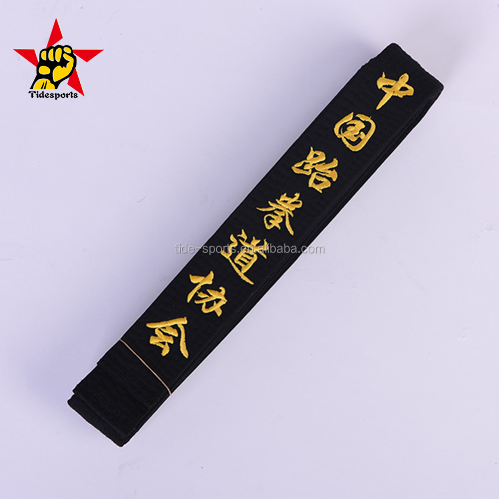 Master black martial arts taekwondo karate belts with embroidery