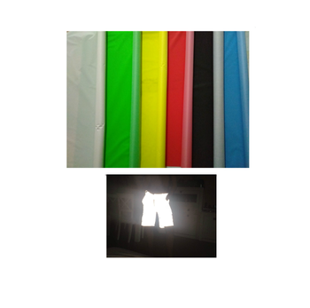 Dongguan supplier color 100% polyester or tc waterproof fabric by yard / hi vis reflective material fabric for umbrella