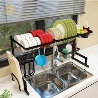 High Quality 201 Stainless Steel Standing Type Storage Kitchen Rack Over Sink Dish Drying Rack