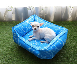 Unique fabric insert pad wholesale big dog cooling mat bed for hot summer