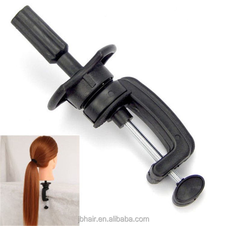 Plastic Mannequin Manikin Holder Stand Wig Clamp Desk Table training head Pro holder
