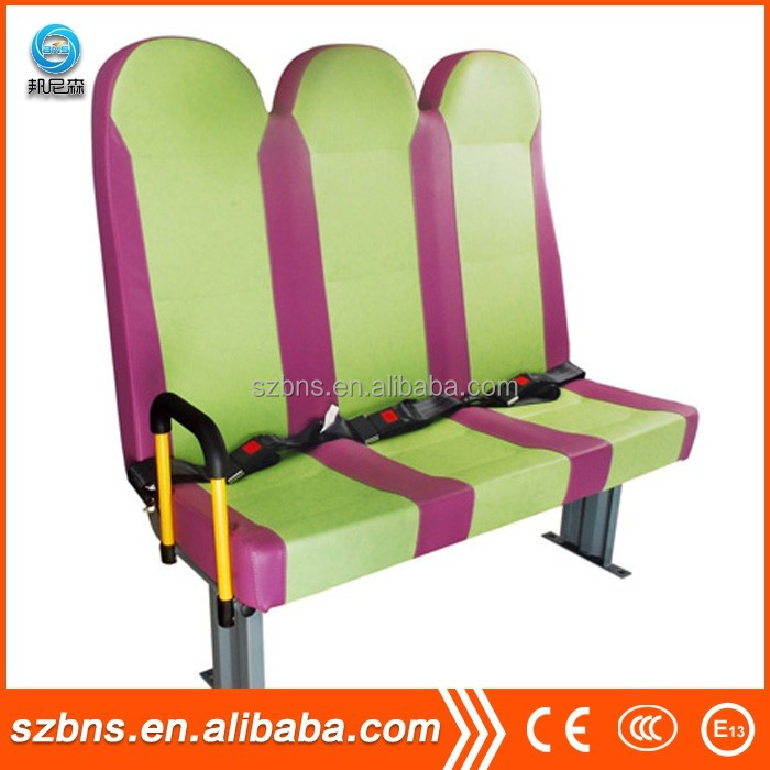 BNS school buses seat with bus seat cover and safety belt