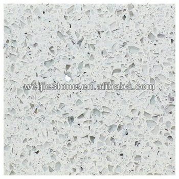 Starlight White Quartz Countertop U0026 Slab, White Mirror Fleck Quartz Stone  Countertop