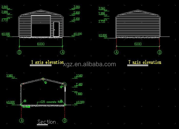 Prefabricated Low Cost Light Steel Structure Car Garage