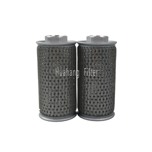 Hydraulic suction oil filter cartridge with thread connector