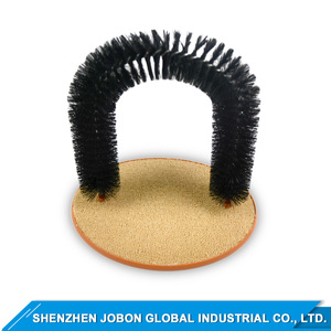 Grooming Cat Toy with Scratching Pad Arch Cat Self Groomer