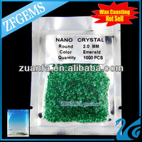 round brilliant cut emerald 2mm nano crystal for jewelry making