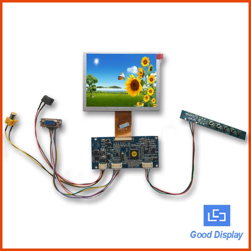 T008 5 Zoll digitales 640 x 480 VIDEO VGA-Eingang TFT-LCD-Modul