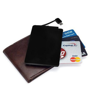 High quality wallet size powerbank mobile phone charger,credit card power bank promotion, rohs power bank 2600mah gift
