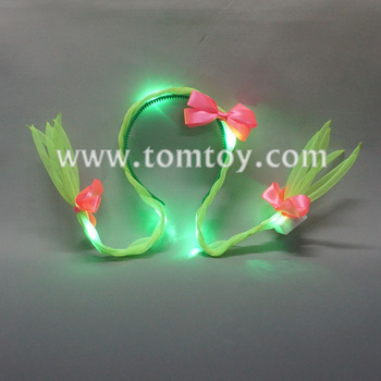 Tomtoy New LED Light up Hair Braid Headband
