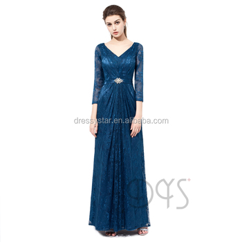 2019 Elegante De Encaje Vestido Azul Marino De La Madre De La Novia Vestido De Noche Largo Con Mangas Buy Vestidos De Encaje De La Madre De La