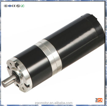 Pm dc planetary gear motor 58w 60mm od planetary gearbox for Dc planetary gear motor