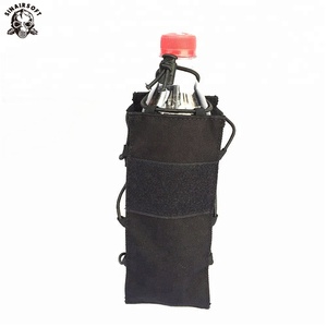 Tactical Water Pouch Water Bottle Climbing Dump Airsoft Elastic Kettle Pouch Army Durable Travel Hiking Hunting