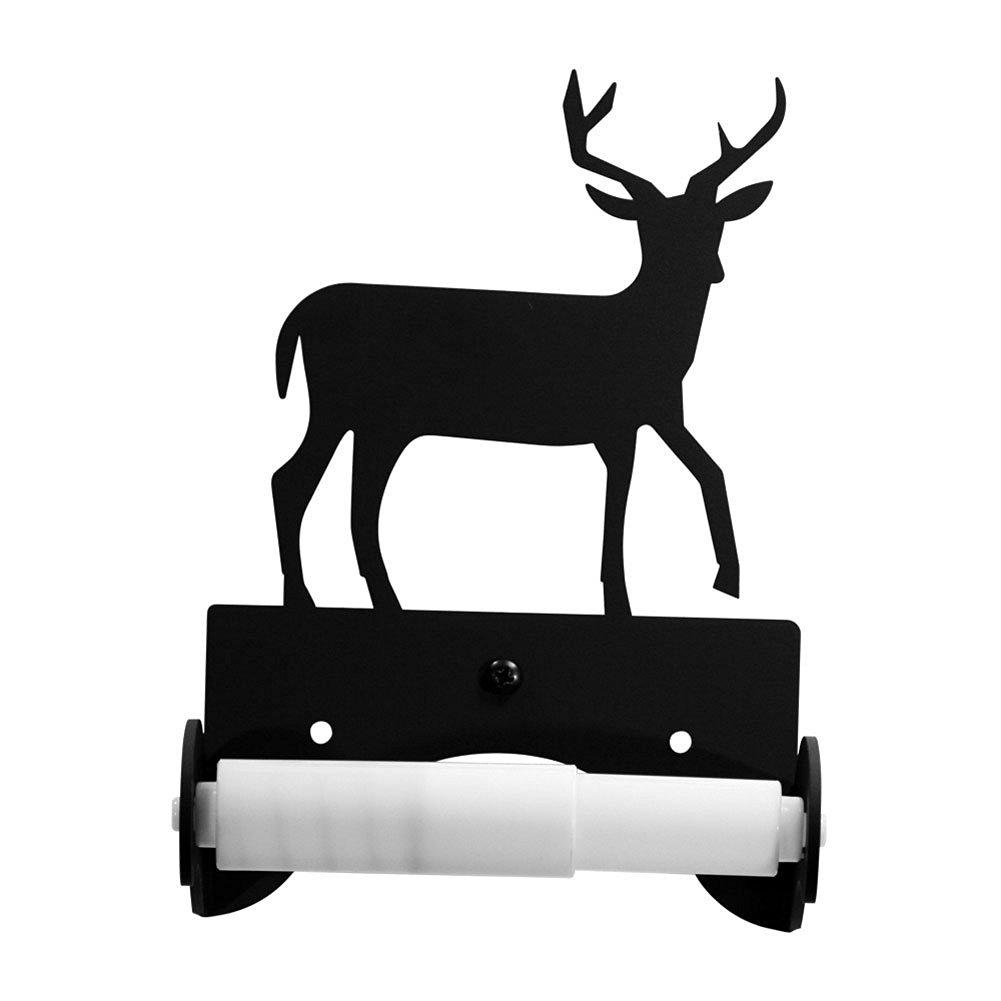 Iron Traditional Style Deer Toilet Roll Tissue Holder - Heavy Duty Metal Toilet Paper Holder, Toilet Tissue Holder, Toilet Paper Dispenser, Toilet Roll Dispenser