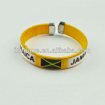 Country Flag Wristbands Jamaica Bracelets