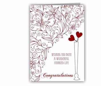 New Design Custom Handicraft Wedding Greeting Cards