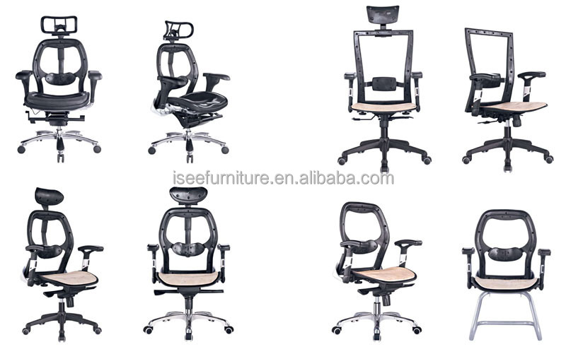 Executive Office Chair With Armrest And Nylon Feet Parts Swivel ...