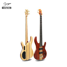 Custom 4 String Bass <span class=keywords><strong>Rode</strong></span> Eiken Maple <span class=keywords><strong>Gitaar</strong></span> Kit Elektrische Basgitaar Van Smiger