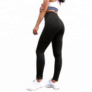 Wholesale Girls Leggings Women Yoga Pants Fitness Trousers Home Exercise Wear Seamless Black