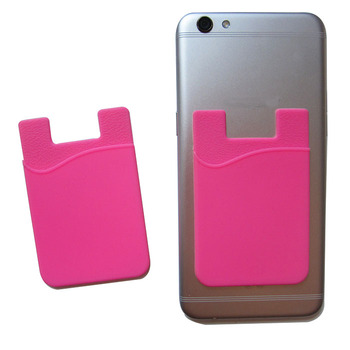 Popular Useful Credit Card Holder Mobile Phone Silicone 3M Sticker Phone Pocket
