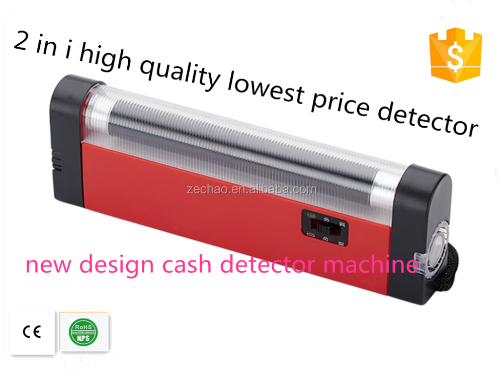 ZC-N01 money detector 2 in 1 high quality popular used for small business cash detector