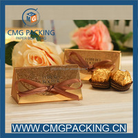 2 pieces ferrero chocolate paper packaging box