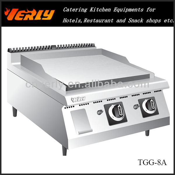 HOT SALE!Stainless steel flat plate gas griddle TGG-8A