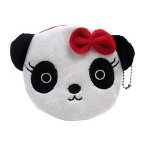 B396 Animal Prints Coin Pouch Plush Panda Coin Purse For Storage Credit Card