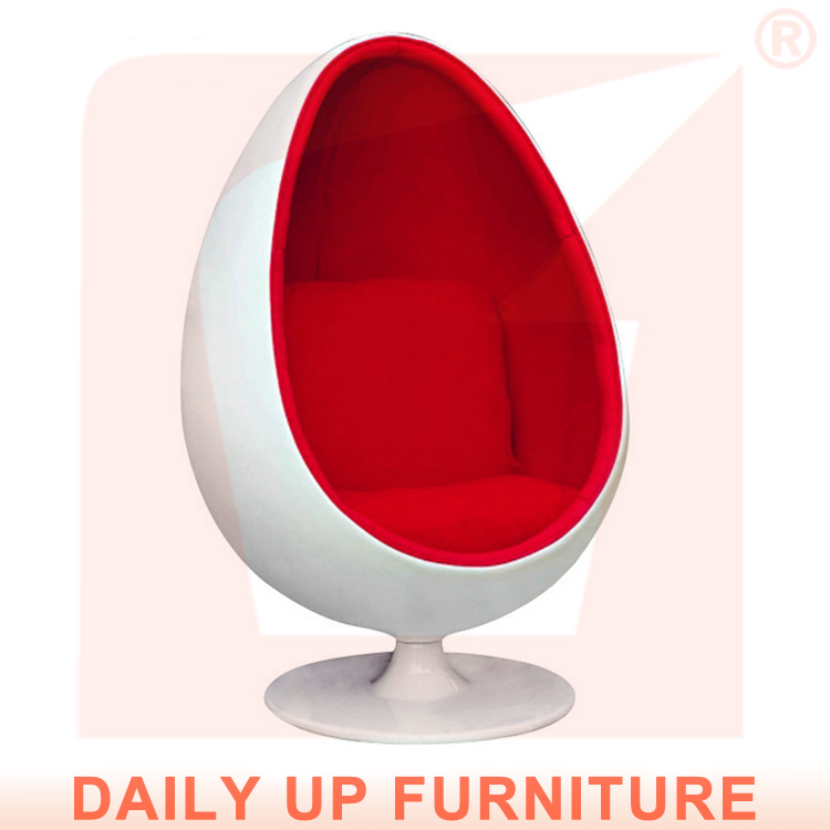 Fiberglass Egg Pod Chair with Sponge Padded Home Eero Aarnio Ball Chair Oval Lounge Chair