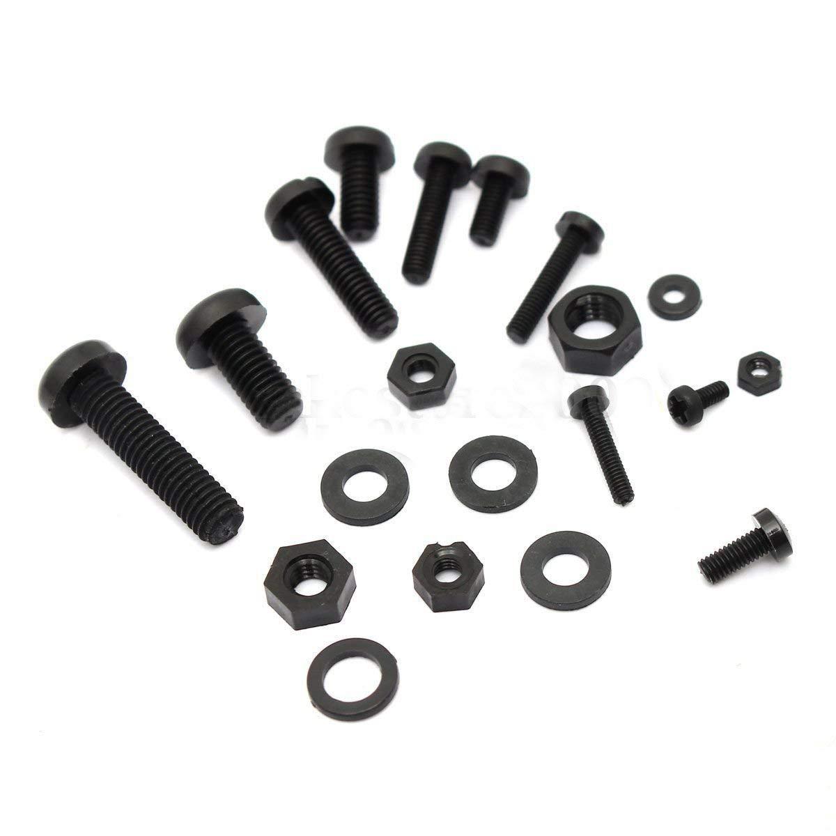 Screws & Nuts Assortment Kit - TOOGOO(R) 150Pcs M2 M2.5 M3 M4 M5 Nylon Hex Screw Bolt Nut Standoff Spacer Assortment Kit Black