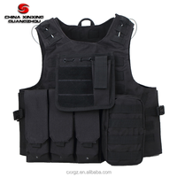 PVC coated Polyester airsoft molle system military tactical vest