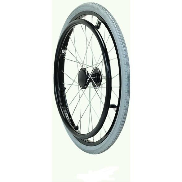 Chinese factory price alloy wheelchair wheel with push-button axle, mingtai wheelchair wheel rim ,wheelchair front wheel