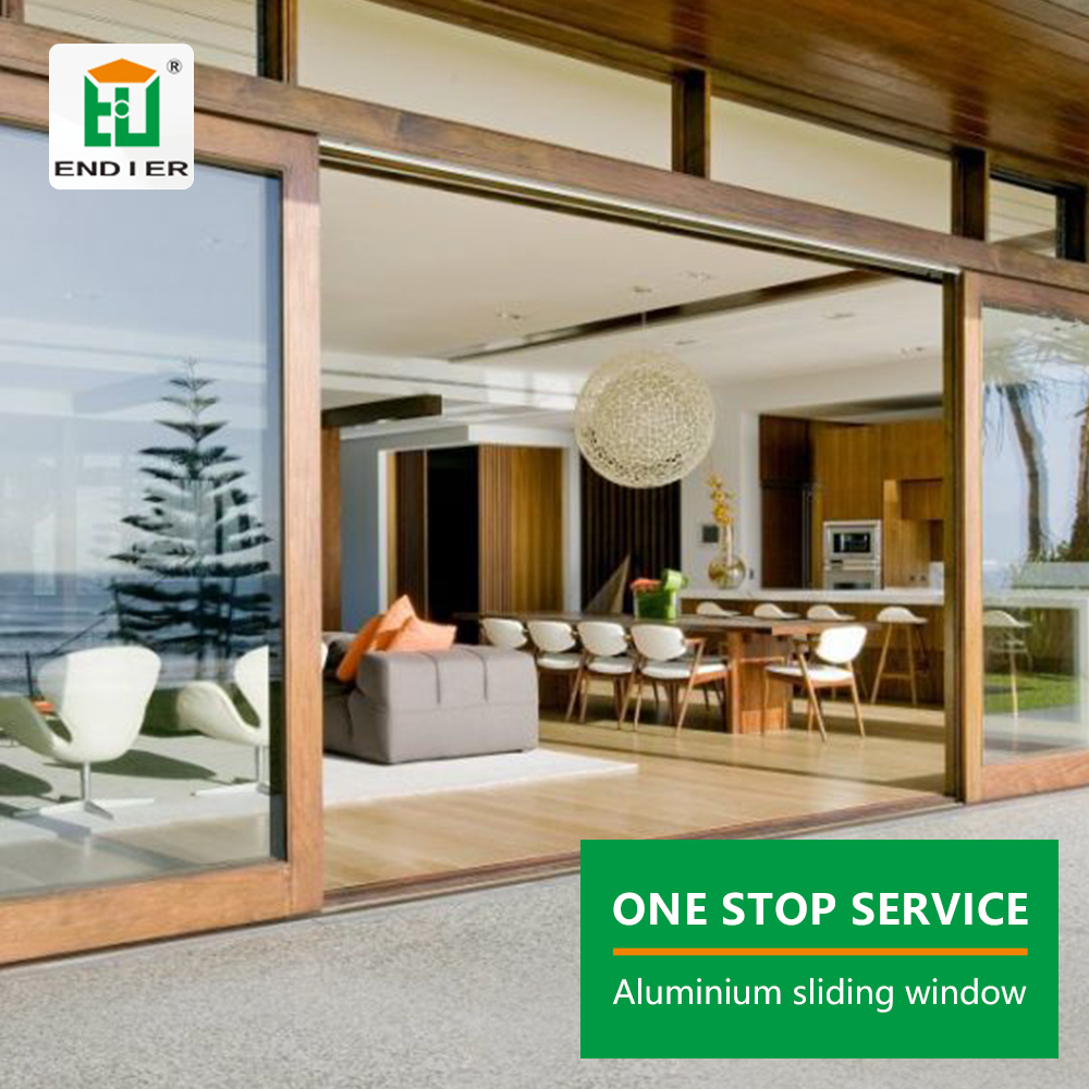 Foshan Factory Large Luxury Villa Patio Sliding Windows Bulletproof Nigeria Aluminum Frame Balcony Window