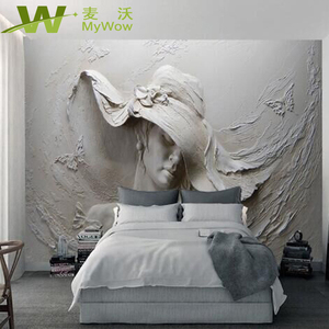 Stereoscopic Design For Bedroom Decoration 5D Wallpaper 7D Wall Mural