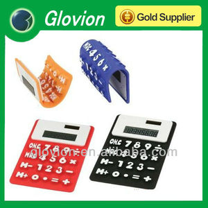 Best Sell soft silicon rubber flexible calculator,flexible scientific  calculator,foldable silicone calculator