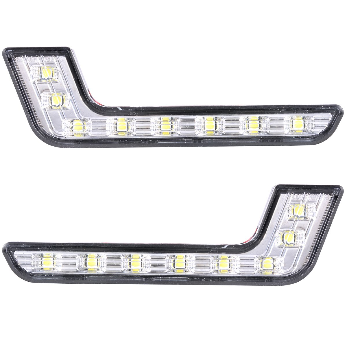 Buy White Led Powered Front Fog Light Kit With Grille Insert And Volkswagen Wiring Looms Xcsource 2pcs 8 Drl Daytime Running L Shape For Mercedes Benz Ma145