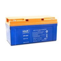 12v 65ah Valve Regulated Lead Acid Battery for Solar System VP1265 Deep Cycle Maintenance Free