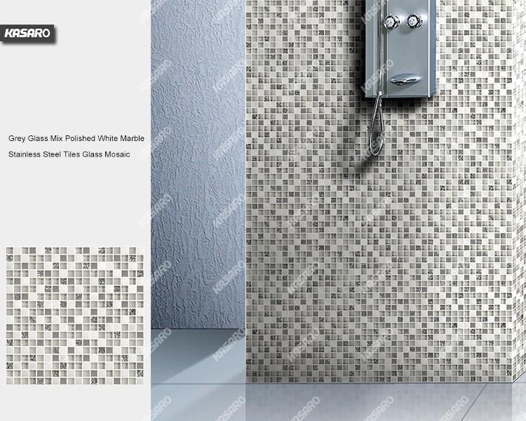 Silber Dusche Wand Dekorative Mosaik-fliesen Glas Stein Und ...