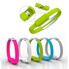 Mini Flat Bracelet Micro USB 2.0 Sync and Charging Data Cable for Samsung galaxy note HTC Huawei Android Freeshipping