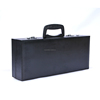 High quality cheap pu gift custom boxes for wine/luxury black pu wine carrying case/portable tote case with alarm clock