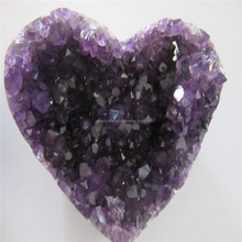 wholesale Natural heart shaped brazil amethyst geode for Best VALENTINE's Day GIFT