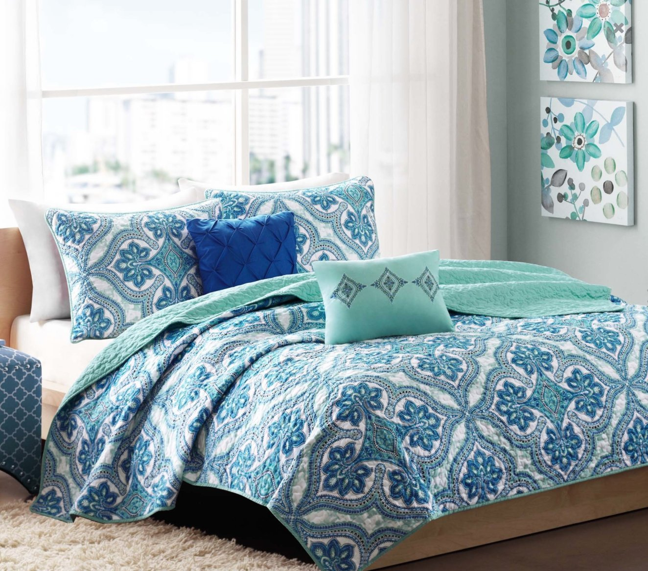green king queen bedding cal country quilt floral ivory ebay pin set quilts patchwork twin sized