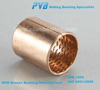 Single Metal bronze bushing with thin wall CuSn8 split sleeve bearing