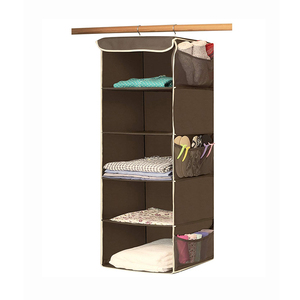 Foldable Breathable Polypropylene Hanging Closet Organizer for Clothes Storage