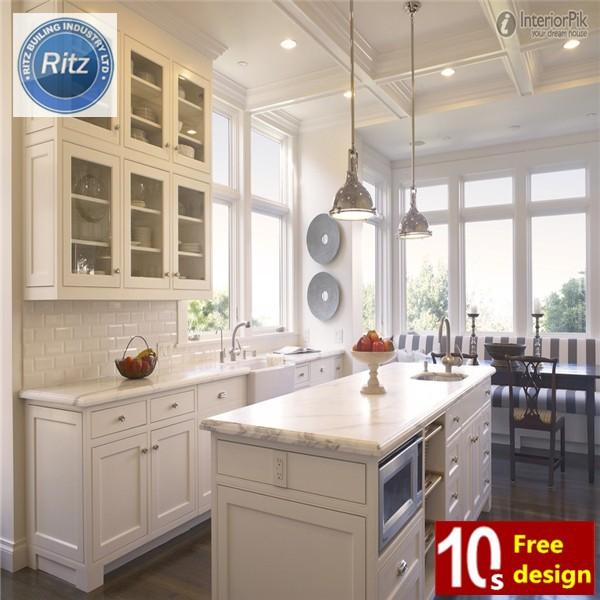 Estilo americano blanco de madera maciza muebles de cocina for Cocina estilo americano