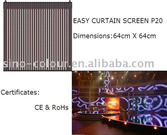 P20 Indoor LED Curtain Display for stage decoration background