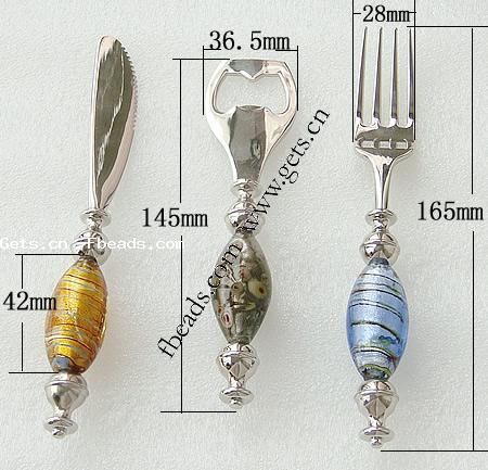 Lampwork 165x28mm, 145x36.5mm table glass