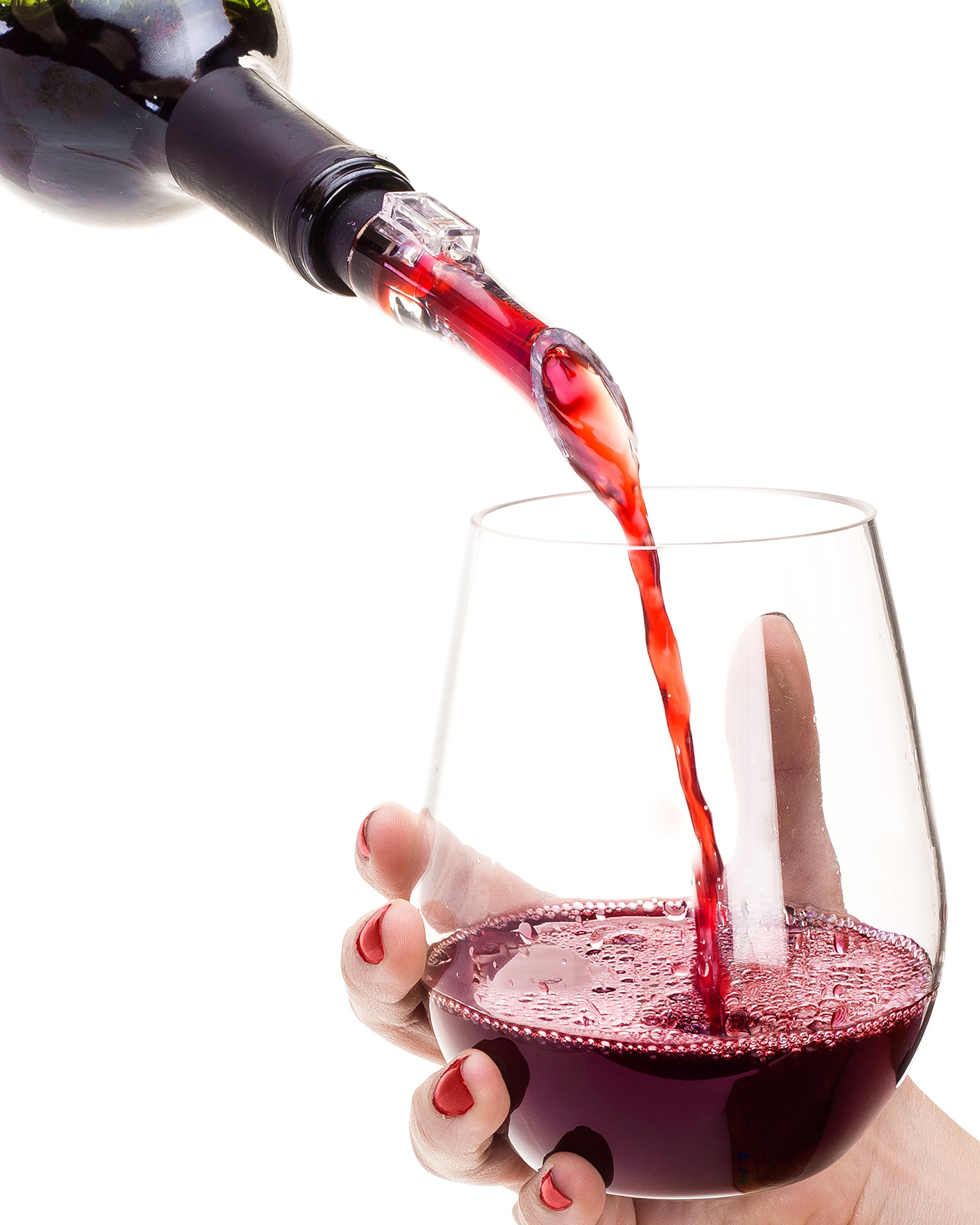 Best Wine Aerator Pourer for Red Wine & White Wine, Unique Gift Idea For Women, Men, Her, Him, Anniversary, Birthday, Couples, Friendship, Wine Gift, Compare to Vintorio Brand