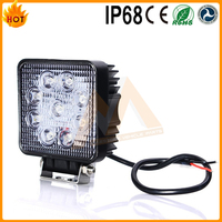 Good Feedback high lumen ip68 flood beam 9 ~ 32v 9 led CE ROHS off road driving light