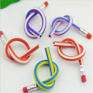 Cute Stationery Colorful Magic Flexible Soft Pencil with Eraser Student School Office Use pencil